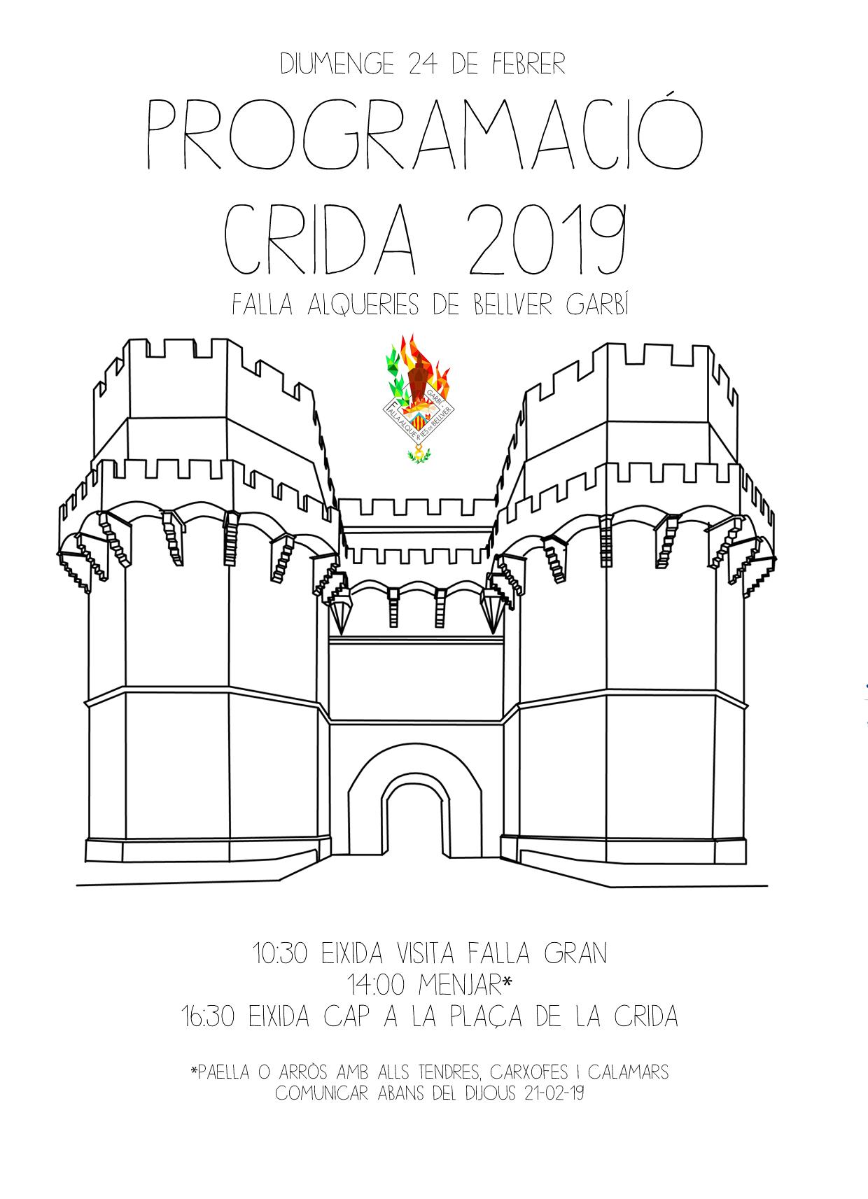 CARTEL CRIDA 2019